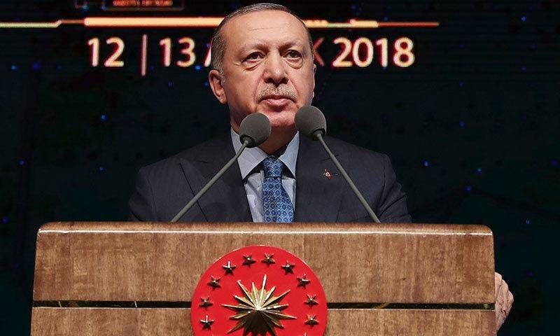 ترک صدر نے امریکا کو ترک دہشت گردوں کی پشت پناہی کا الزام دے دیا—فوٹو:اے پی