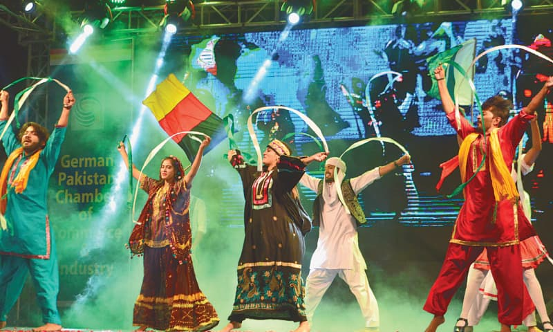 A traditional folk dance being performed at the event on Tuesday.—White Star