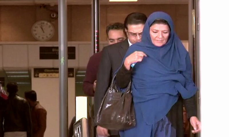 Aleema Khanum appears in the Supreme Court on Thursday. — DawnNewsTV