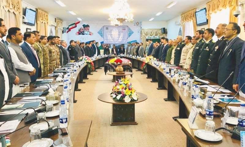 دونوں ممالک کے وفود کی ملاقات ایران کے شہر زاہدان میں ہوئی —فوٹو بشکریہ ڈان اخبار
