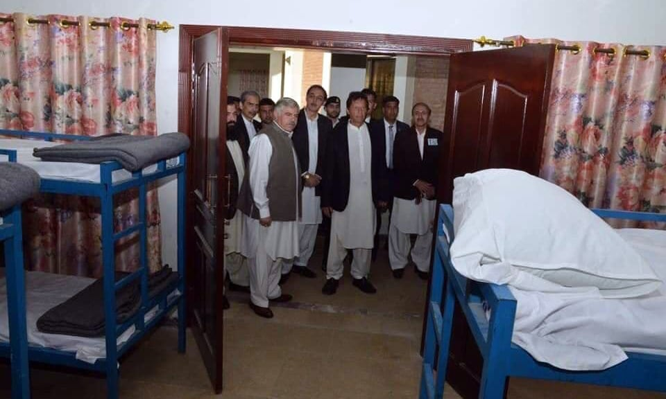 PM Khan observes a shelter home in Peshawar. —PID