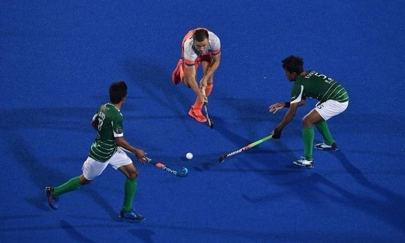 قومی ٹیم ورلڈ کپ میں کوئی میچ نہیں جیت سکی تھی—فوٹو: پاکستان ہاکی فیڈریشن ٹوئٹر