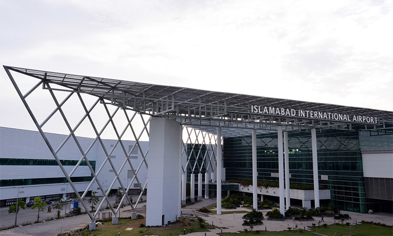 Newly constructed building at Islamabad International Airport starts