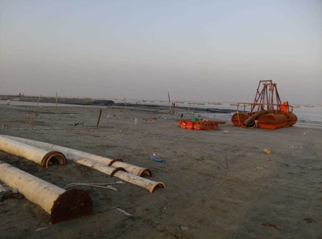 Construction work in process east bay | Gwadar Port Authority
