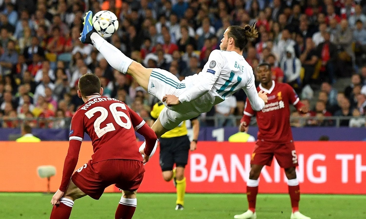 Welsh winger Gareth Bales in action during the 2017-18 Champions League final. — AFP