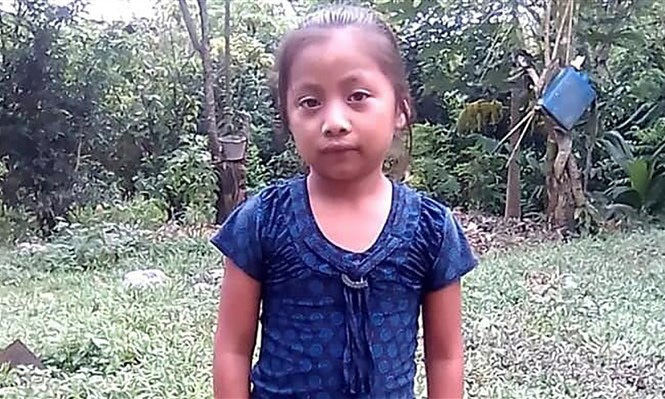 Jakelin Amei Rosmery Caal Maquin was picked up by US authorities with her father and other migrants in New Mexico. — Photo from Twitter.