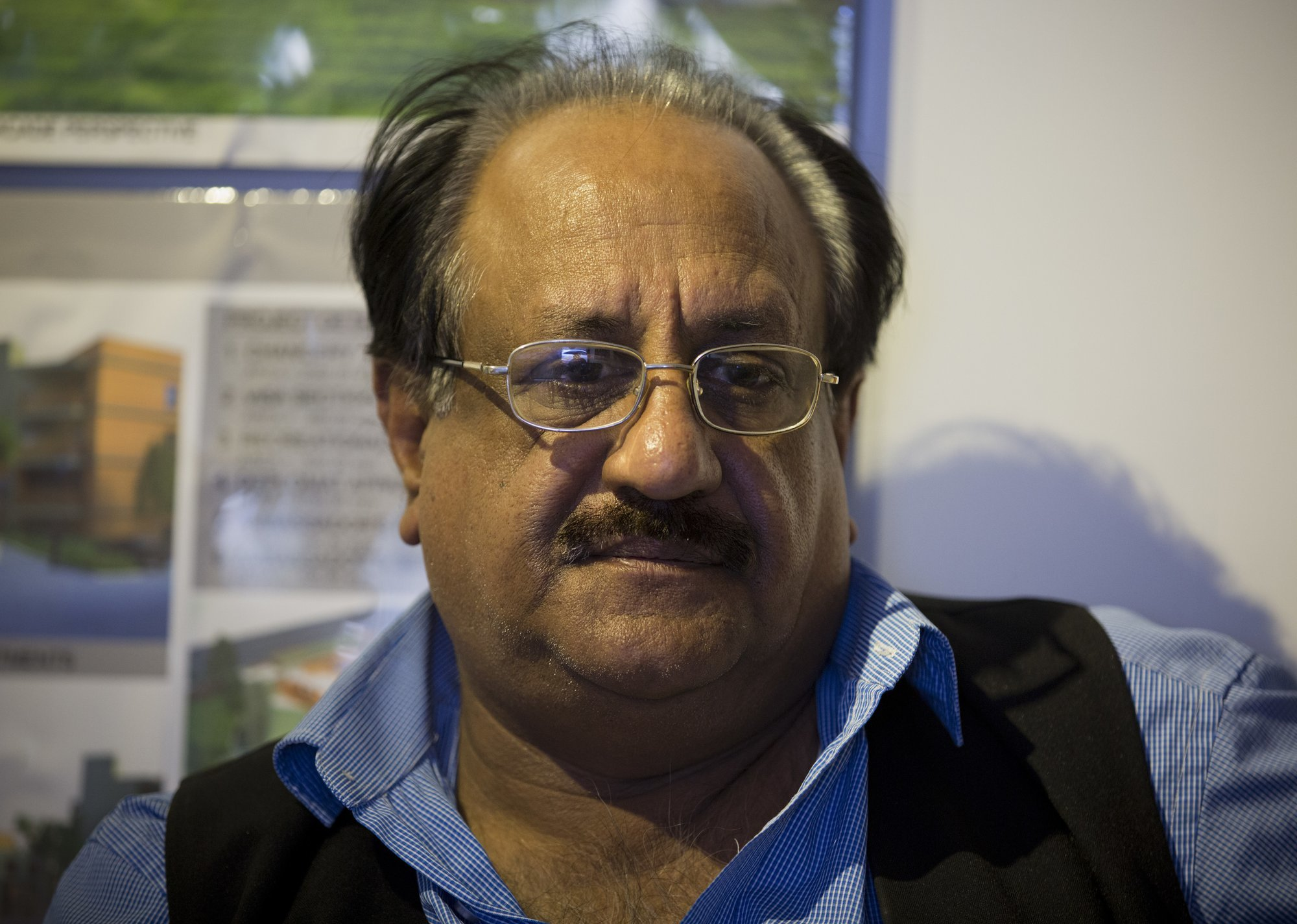 In this Nov 29 photo, Chaudry Javed Atta speaks to The Associated Press in Islamabad. — AP