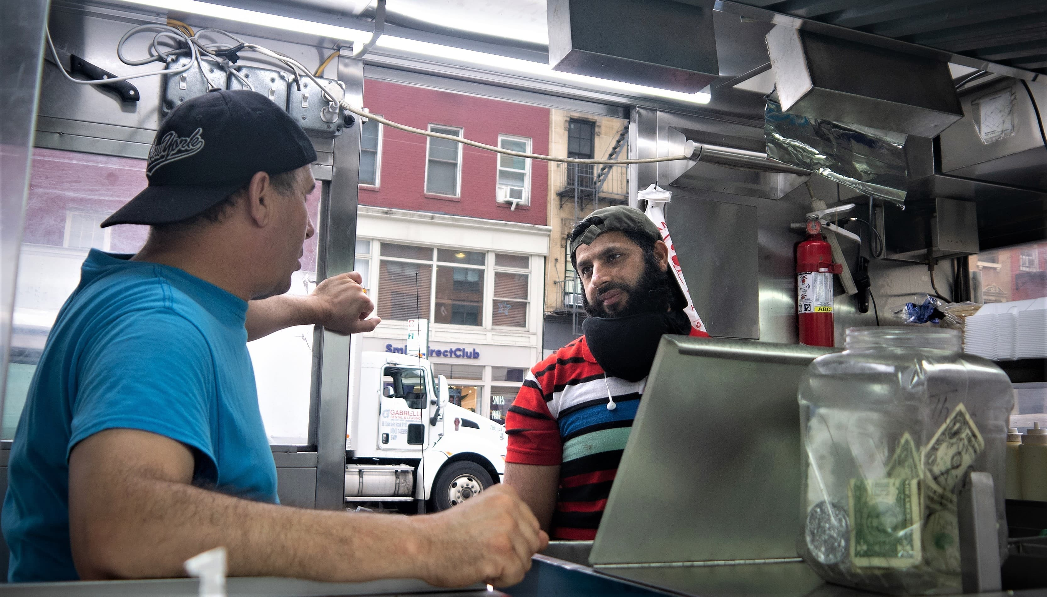 During Adnan's shift he is usually joined by a worker who is also an immigrant from Morocco.