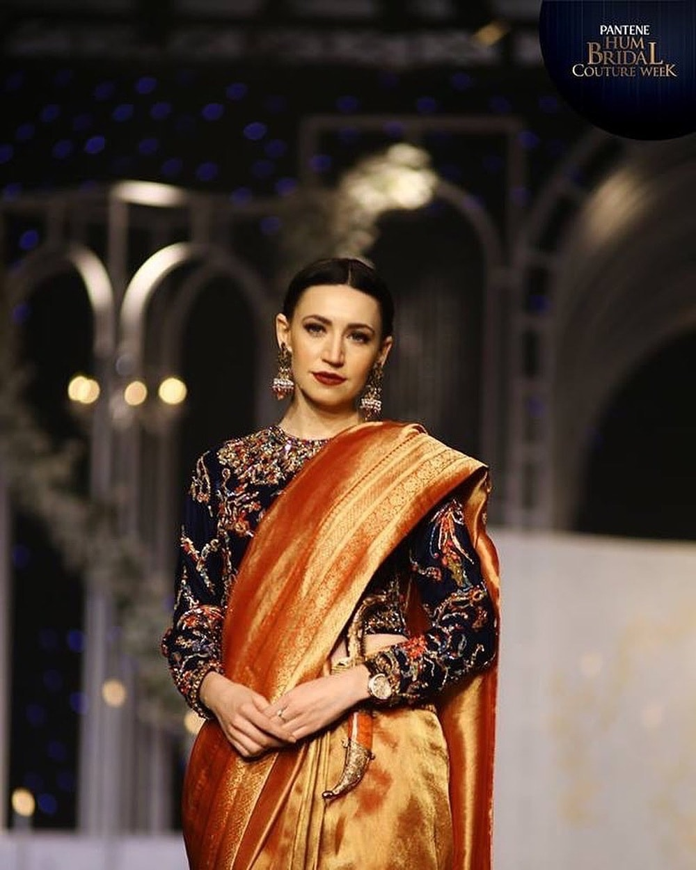 Nilofer Shahid's Badshah Begum collection debuted on the BCW'18 ramp.