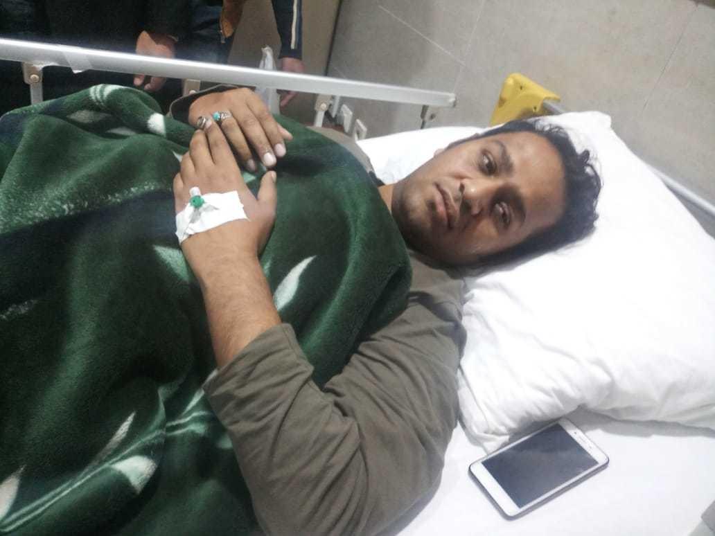 Cameraman Wajid Ali at the hospital. — Photo by author