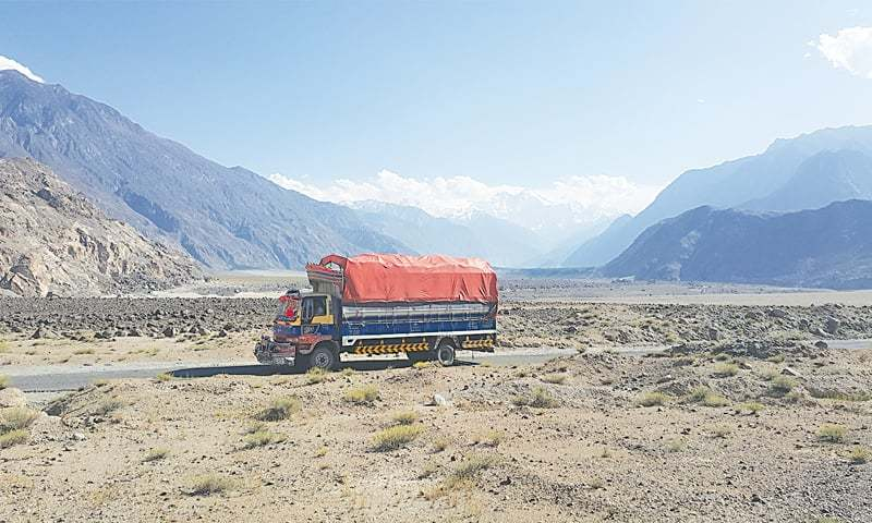 The 175-kilometer road is being reconstructed by the Frontier Works Organisation, which got the contract last year.