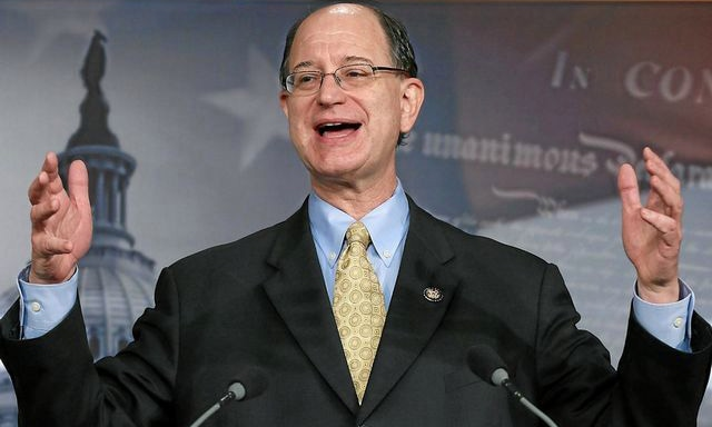 Congressman Brad Sherman at a media briefing. — Photo from US State Department website
