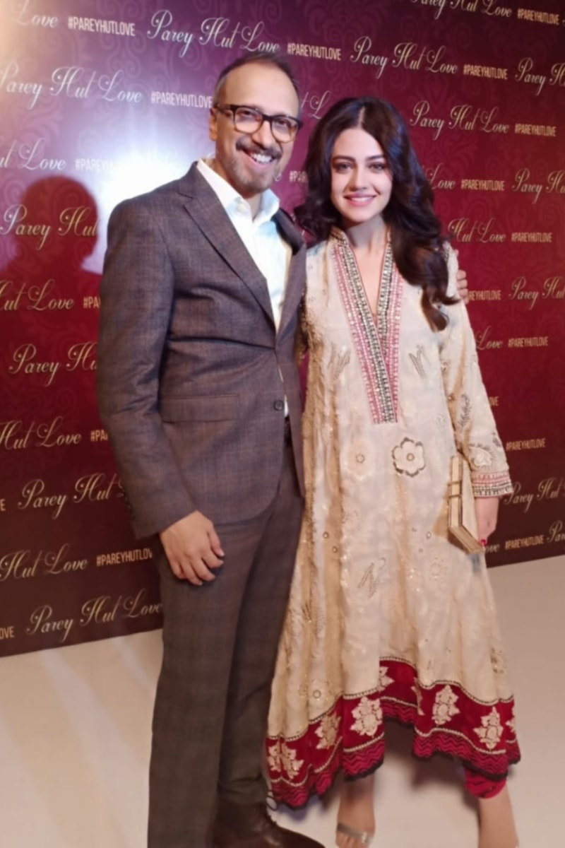 Director Asim Raza with Zara Noor Abbas