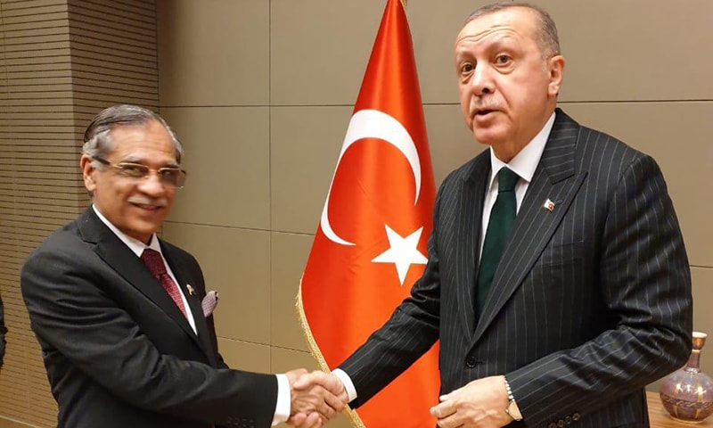 CJP Nisar called on President Erdogan on Tuesday in Konya while on an official visit to Turkey. — Photo courtesy author