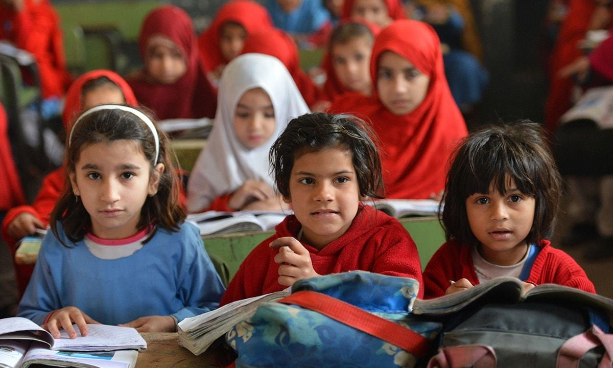 Schoolgirls in a government school in Peshawar | Abdul Majeed Goraya, White Star