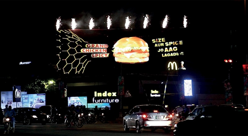 In Lahore, brands such as McDonald's are increasingly using DOOH.