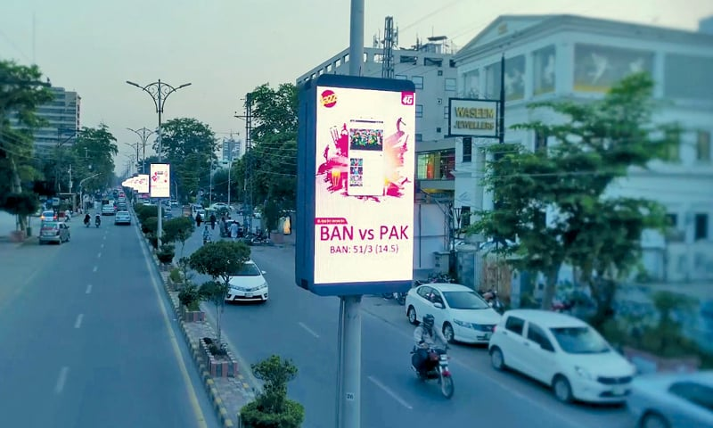In Lahore, brands such as Jazz are increasingly using DOOH.