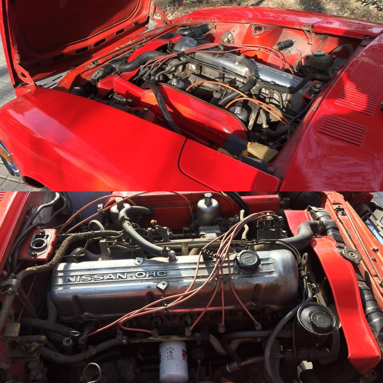 Datsun's engine.