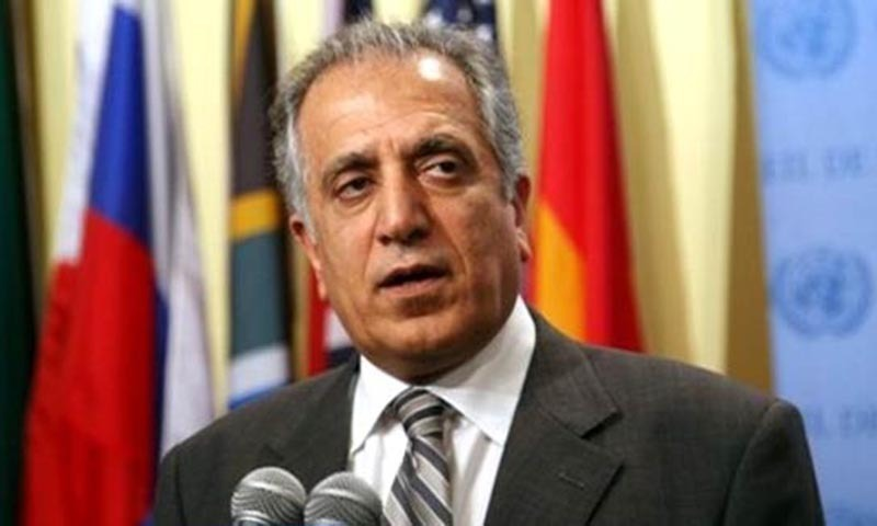 US Envoy Zalmay Khalilzad's comments come says after his meeting with Taliban representatives. — File photo