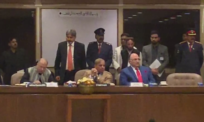 Leader of Opposition in the Parliament Shahbaz Sharif thanked lawmakers for placing their trust in him. — DawnNewsTV