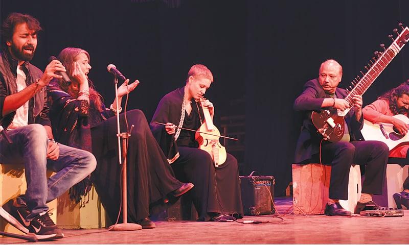 Sound of Kolachi and Italian musicians Frida Neri (vocalist) and Elisabetta Del Ferro (viola da gamba) perform at Napa on Friday evening.—White Star