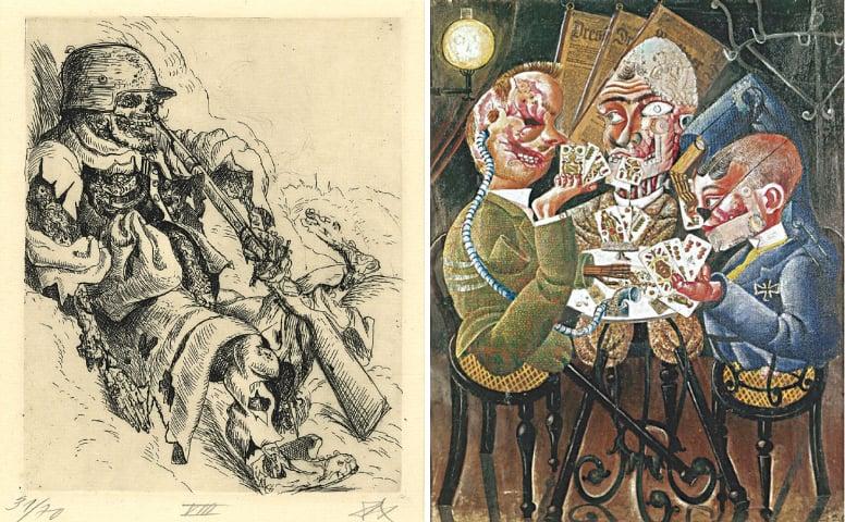 Untitled artworks from Otto Dix's Der Krieg (The War) series
