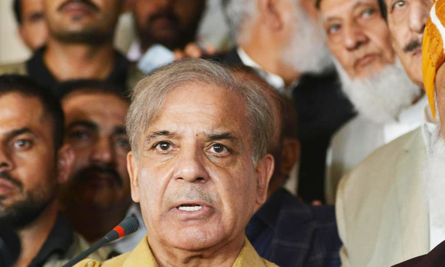 Shahbaz Sharif was arrested by NAB in Ashiana Housing scam in October. — AFP