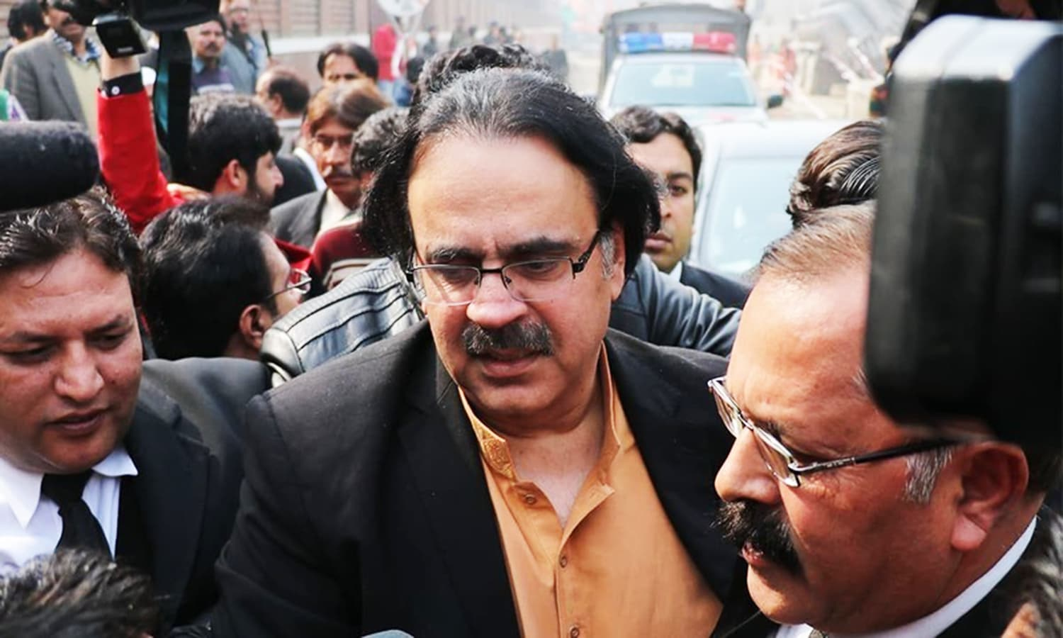 Dr Shahid Masood appears at court for a hearing. — File