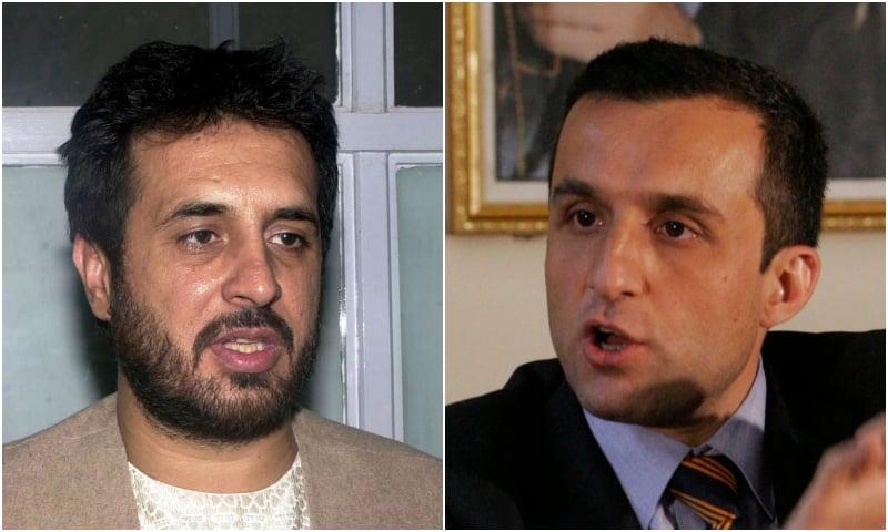 (L) Former Afghanistan's Kandahar Governor Assadullah Khaled and former Afghanistan's intelligence chief Amrullah Saleh. — AP/File
