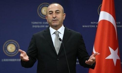 Foreign Minister Mevlut Cavusoglu. ─ AFP/File