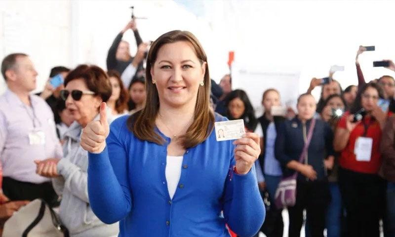 مارتھا ایریکا 14 دسمبر 2018 کو گورنر بنی تھیں—فوٹو: نوتیکروس ٹیلی وژن