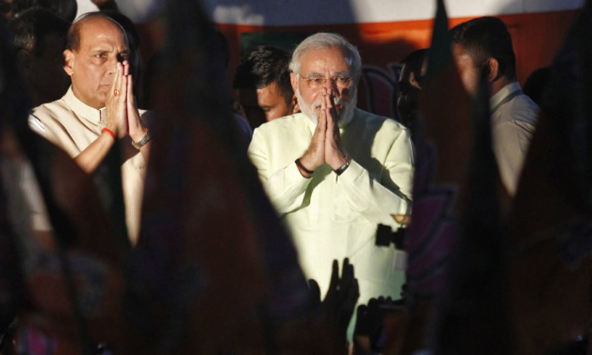 Indian Prime Minister Narender Modi on the right | Reuters