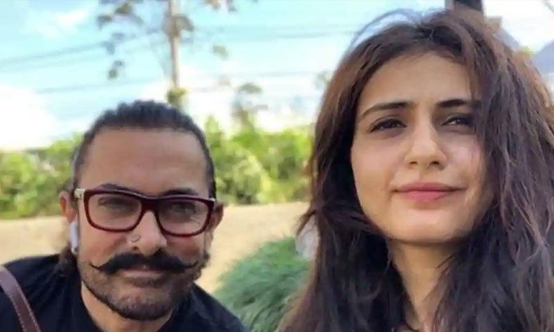 فاطمہ ثنا شیخ اور عامر خان کے درمیان 2017 سے تعلقات کی چہ مگوئیاں تھیں—فائل فوٹو: انسٹاگرام