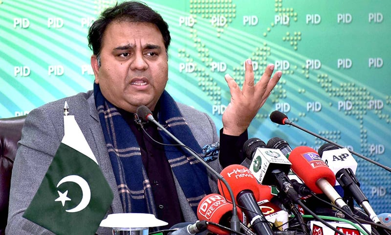 Information Minister Fawad Chaudhry briefing media persons about the decisions taken in the federal cabinet meeting. —APP