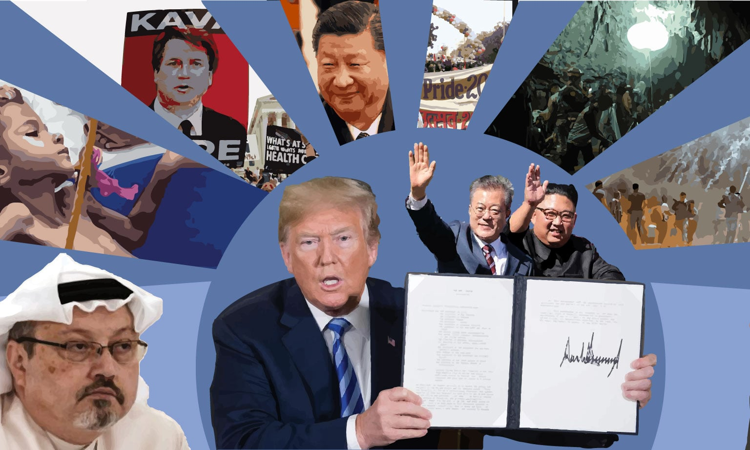 A timeline of 2018's biggest headlines around the globe