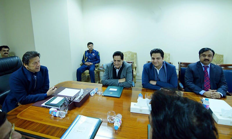 Prime Minister Imran Khan meets members of Sialkot's business community. ─ Photo courtesy author