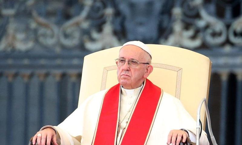 پوپ فرانسس اس معاملے پر پہلے بھی بات کر چکے تھے—فوٹو: سی این این