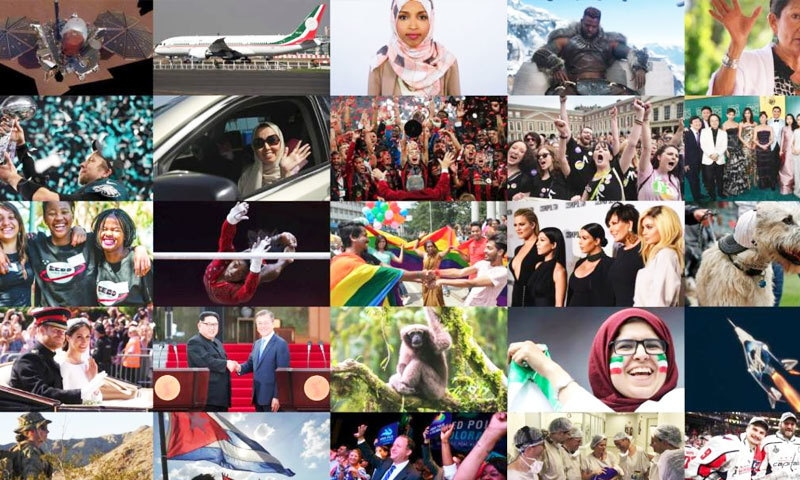 سال 2018 میں بھی کئی اچھی اور مثبت خبریں سامنے آئیں—فوٹو: سی این این
