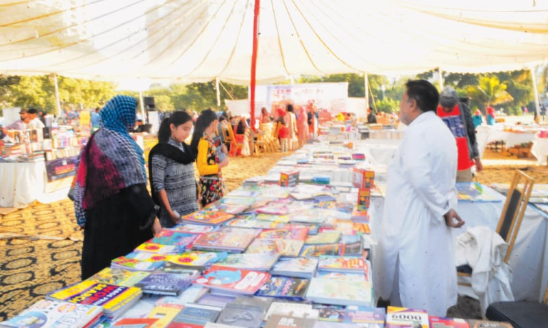 A SECTION of the stalls set up at the Frere Hall on Sunday.—Faysal Mujeeb / White Star