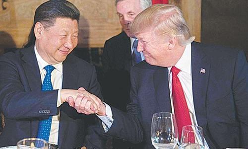 ڈونلڈ ٹرمپ نے چینی صدر کے ساتھ 'مضبوط دوستی ' پر زور دیا — فائل فوٹو