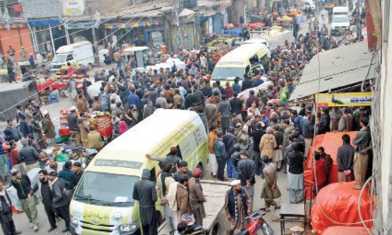 Sealing of shops sparks protest in Raja Bazaar - Newspaper - DAWN COM