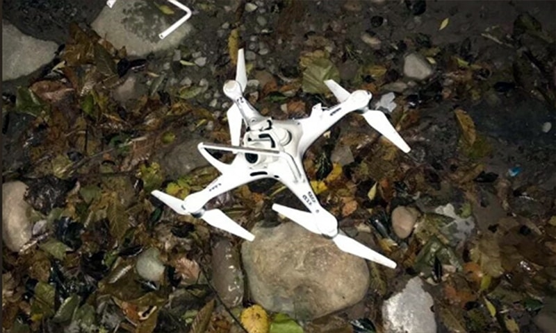 Army shoots down another Indian spy drone along LoC: ISPR