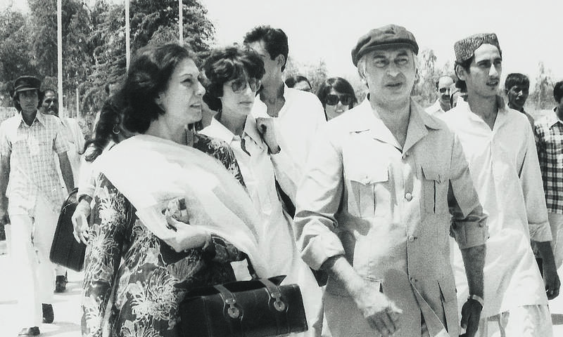 Begum Nusrat Bhutto, Benazir Bhutto, Murtaza Bhutto, Zulfikar Ali Bhutto and Shahnawaz Bhutto | White Star Archives