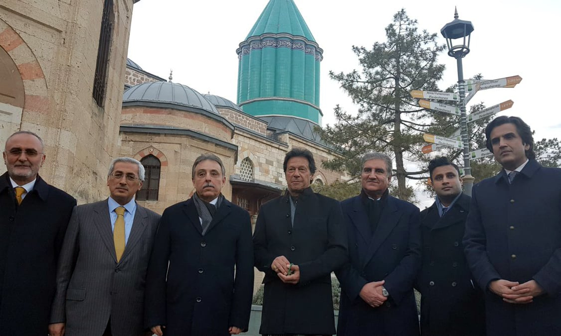 PM Imran Khan and his delegation visited the mausoleum of Maulana Jalaluddin Rumi. —PID