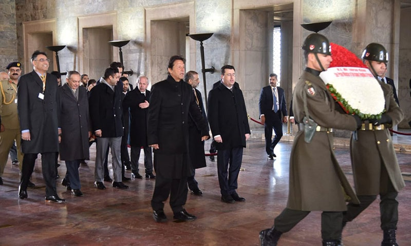 The premier visited the mausoleum of Mustafa Kemal Ataturk. — Photo courtesy of *Radio Pakistan*