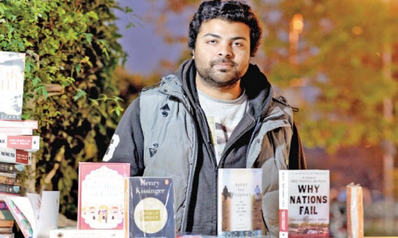Mohammad Adeel, 26, book seller