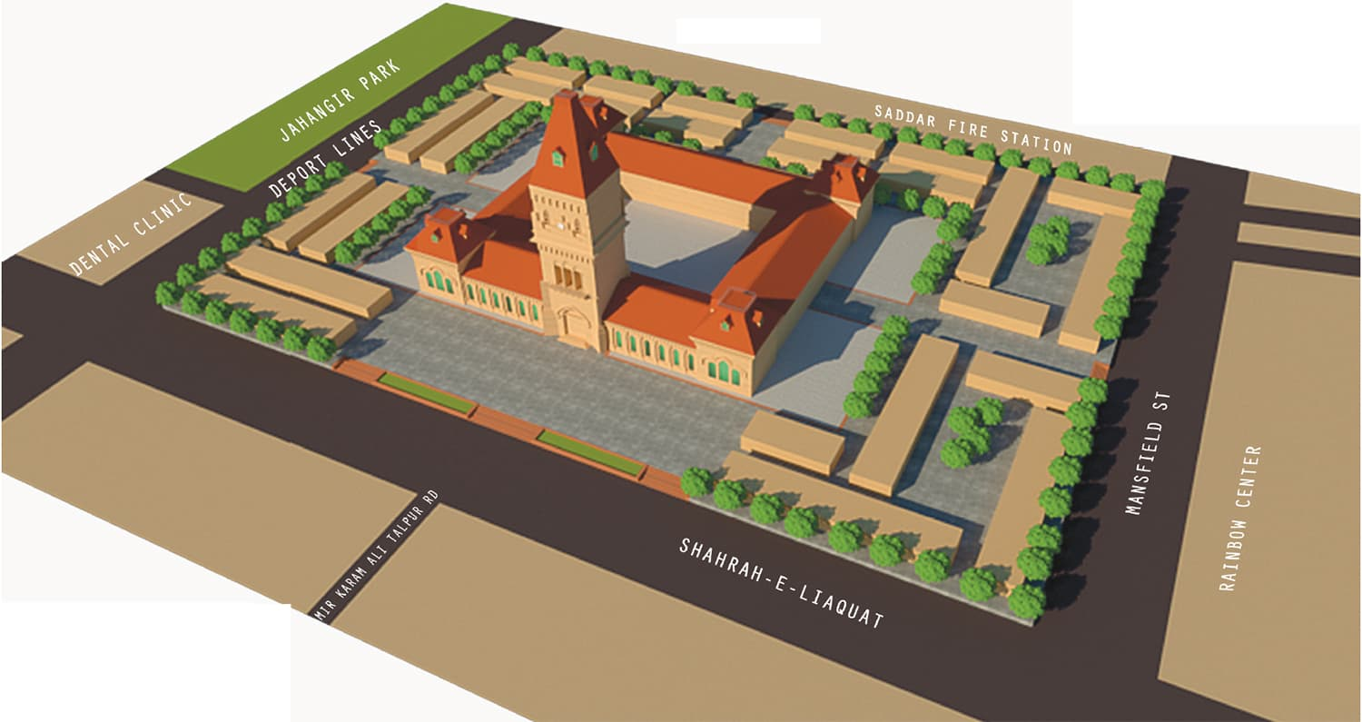 Aerial view of Empress Market proposed plan.