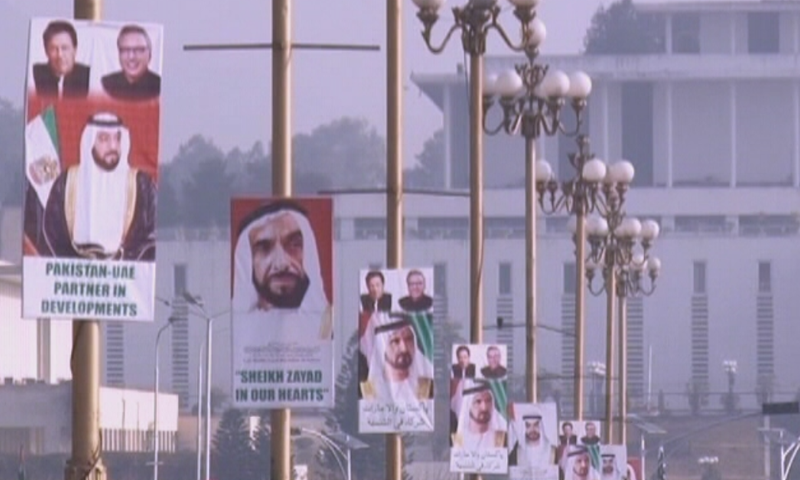 Islamabad has been decked out with billboards and panaflexes welcoming the visiting crown prince. — DawnNewsTV