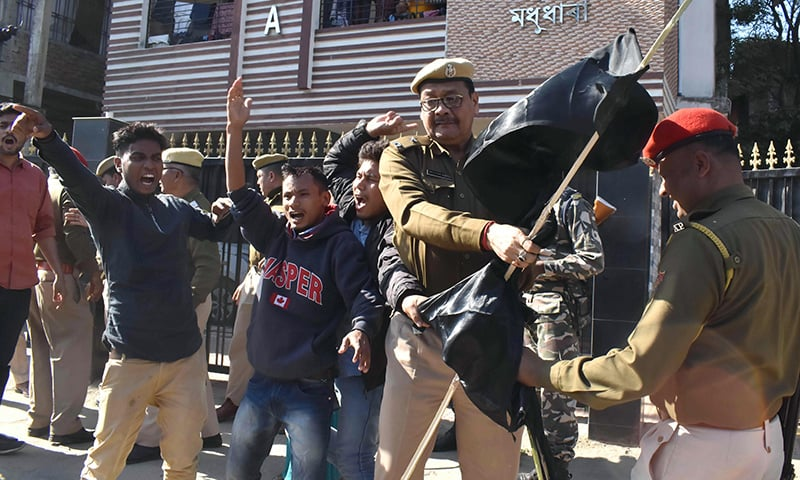 Bomb hurled at BJP office in Meghalaya, protests against Bill