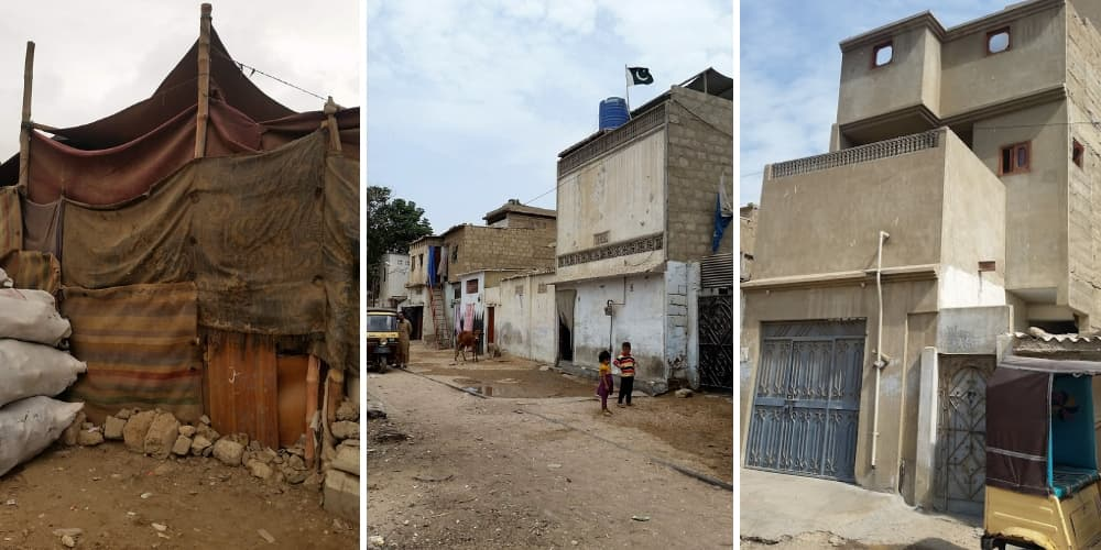 From huts to sheds to mini villas: the material transformation of the KCR neighbourhoods.